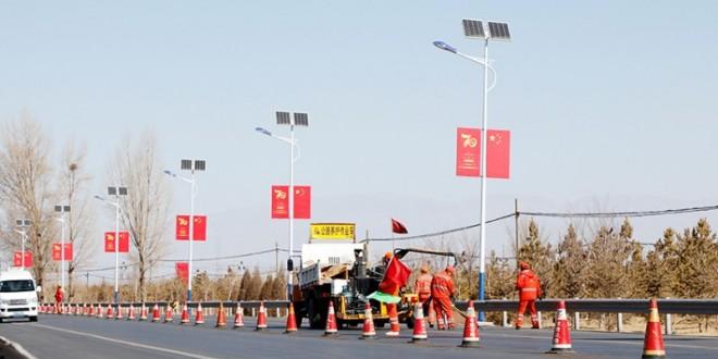 甘肃民乐:公路养护复工建设忙