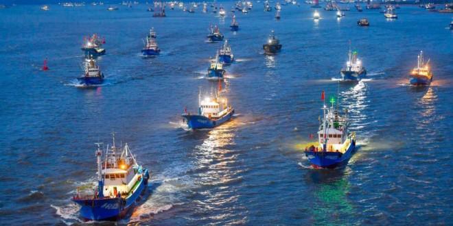 东海伏休解禁 舟山近3000艘渔船出海开捕